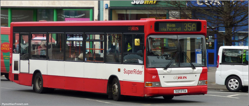 Plymouth Citybus 027 S127FTA