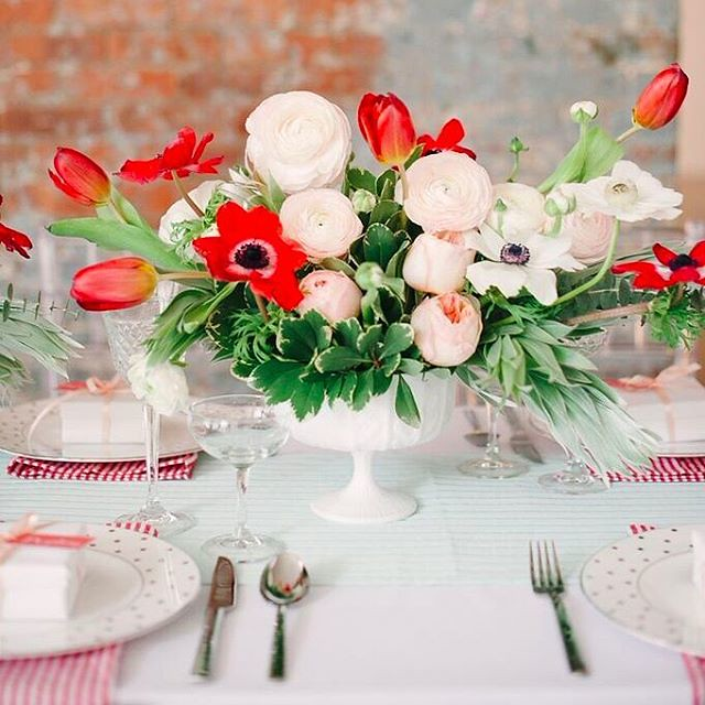 Bright colored wedding centerpieces | Photo by brklynviewblog Fab Mood UK wedding blog
