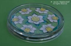Spring mandala coaster: Daffodil 2