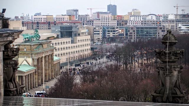 Demonstration outside Brandenburg Gate
