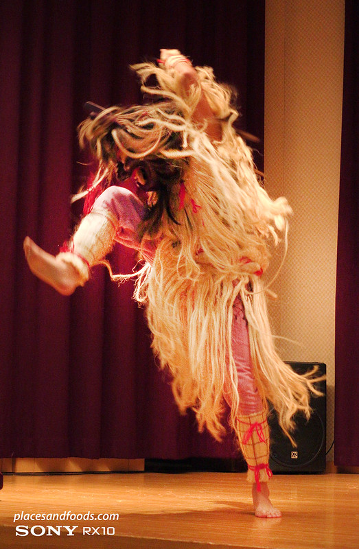 namahage drum performer in oga dancing