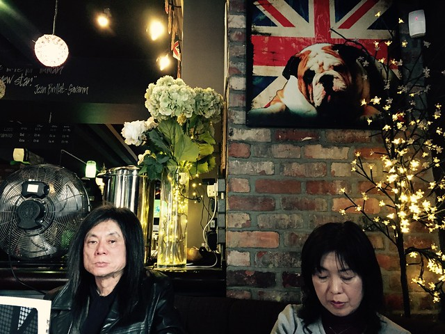 iphone photo extra: Mr. & Mrs. Kinoshita. The Priory Pub, Tynemouth (UK), 19 Mar 2016