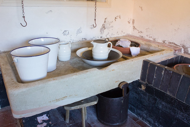 Boscobel House dairy kitchen