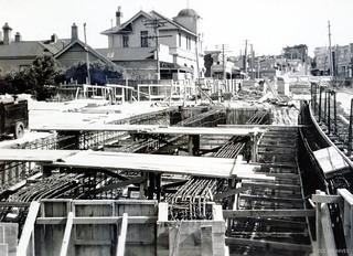 Stuart Street Extension - Overbridge 1952