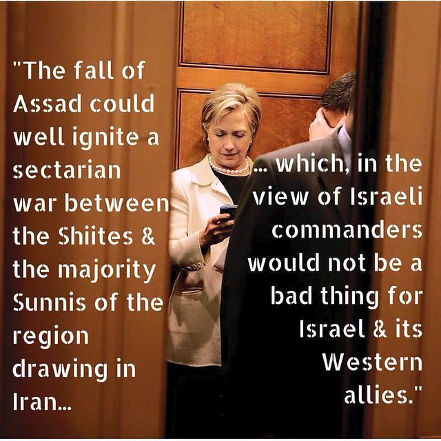 Hillary syria war with iran for israel