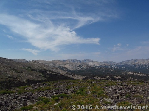 Views across the many forks of Roaring Fork Mountain, Wind River Range, Wyoming