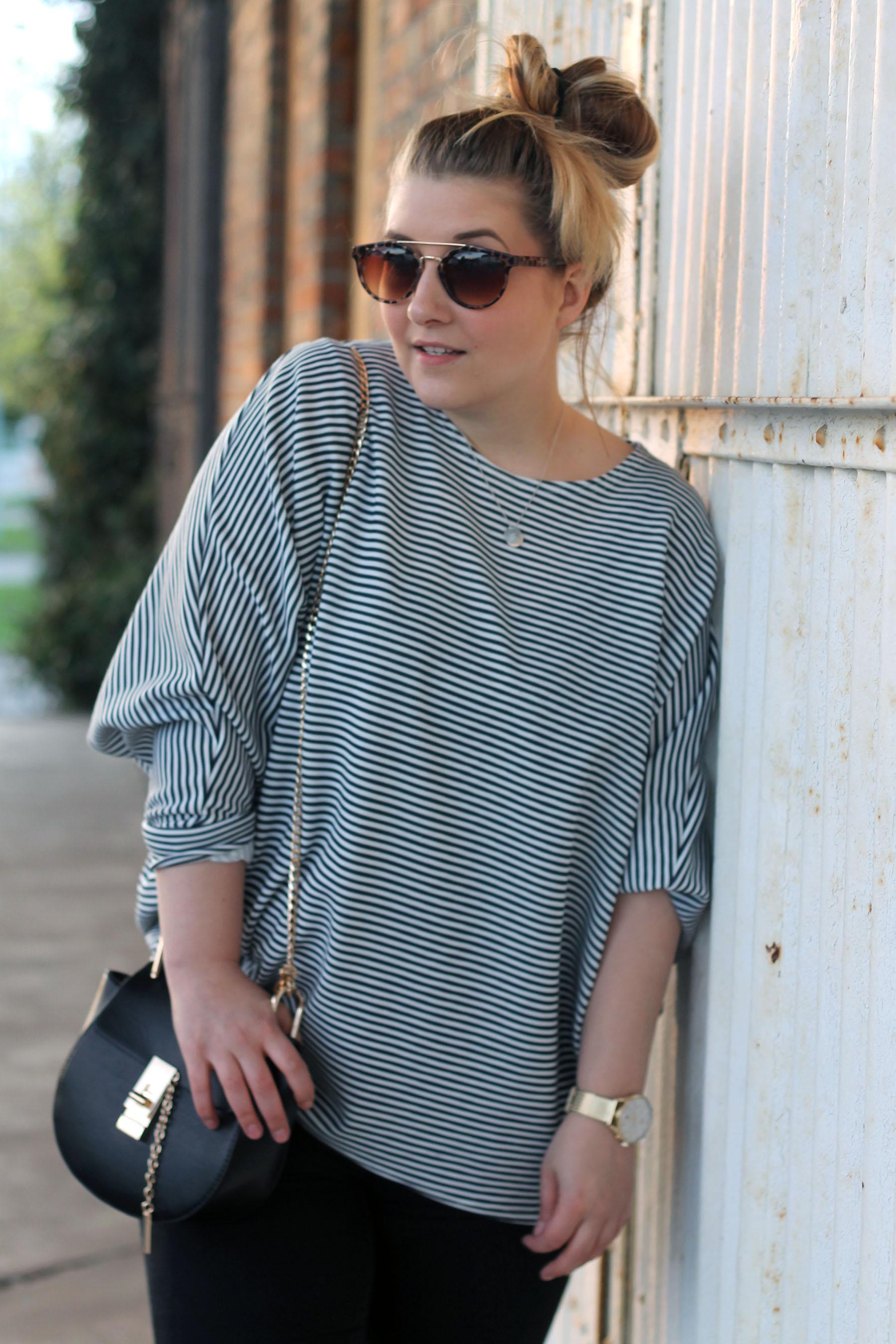 outfit-fashionblogger-sonnenbrille-primark-einkauf-shirt-streifen