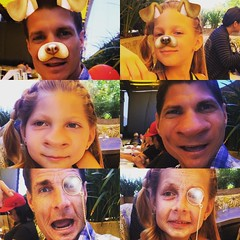 Ava and I had hundred's of laughed today playing with snapchat waiting for our lunch :sweat_smile::smile::grimacing::joy::relaxed: #DaddyDaughterLove #SundayFunDay #SnapchatOverload #FunnyFaces #SillyTime