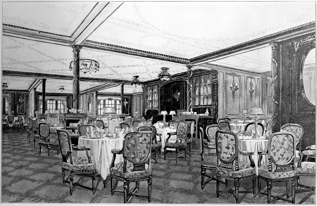 The A La Carte restaurant aboard the RMS Titanic