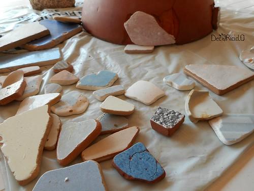 vaso terracotta con mosaico ricicloso 2