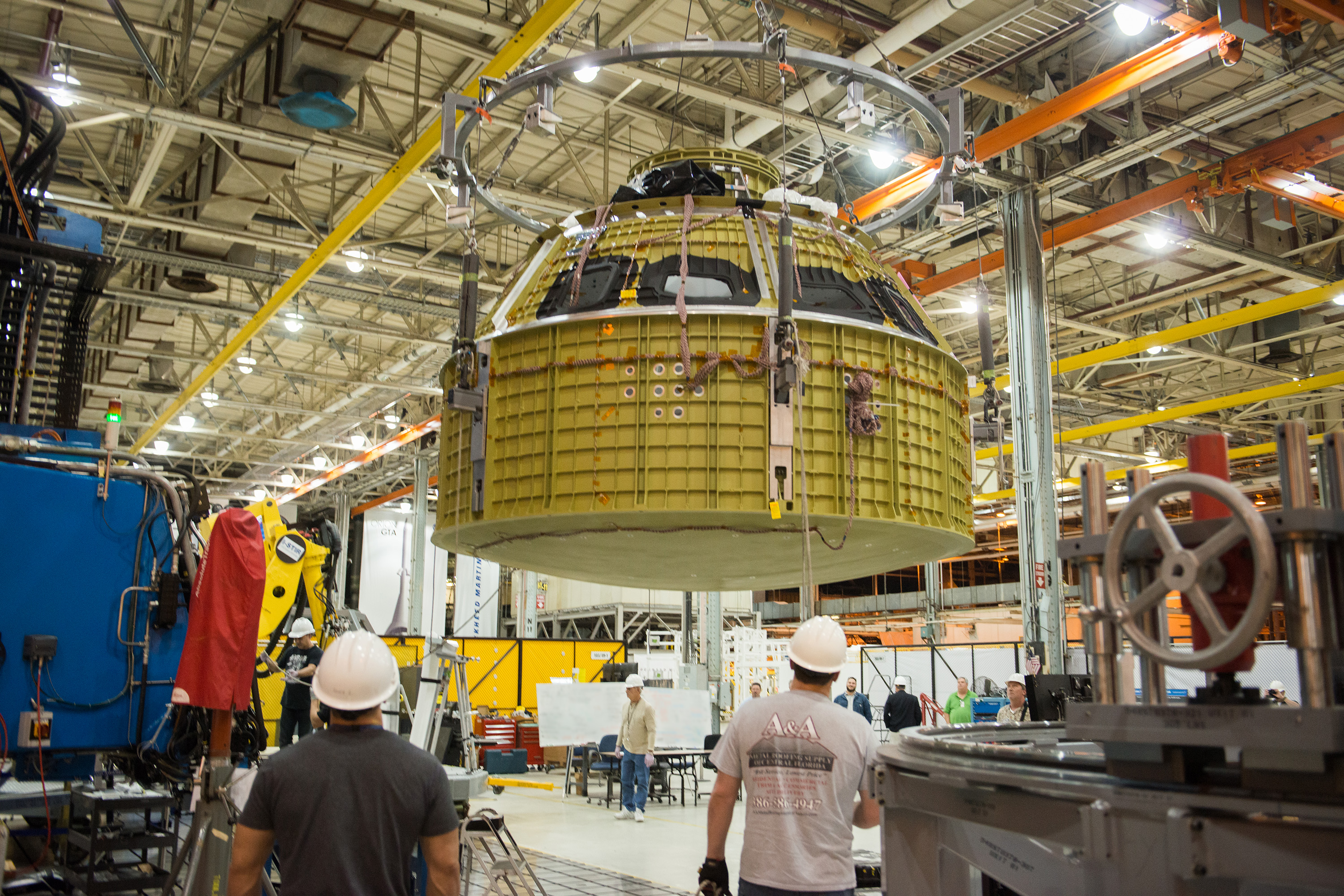 Engineers Mark Completion of Orion's Pressure Vessel (I)