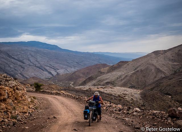 Climbing away from Jebel Shams