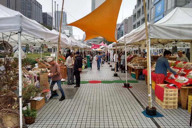 Farmer's Market,一個小農市集,販賣各式各樣的農產品與加工品。
