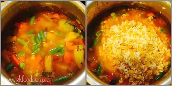 Sambar Sadam Recipe for Babies, Toddlers and Kids - step 4