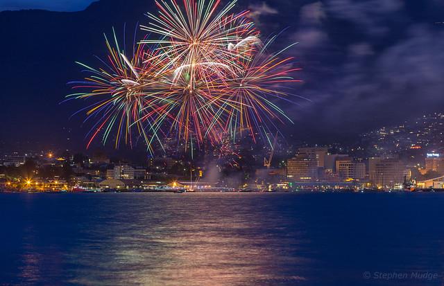 NYE Fireworks in Hobart 1