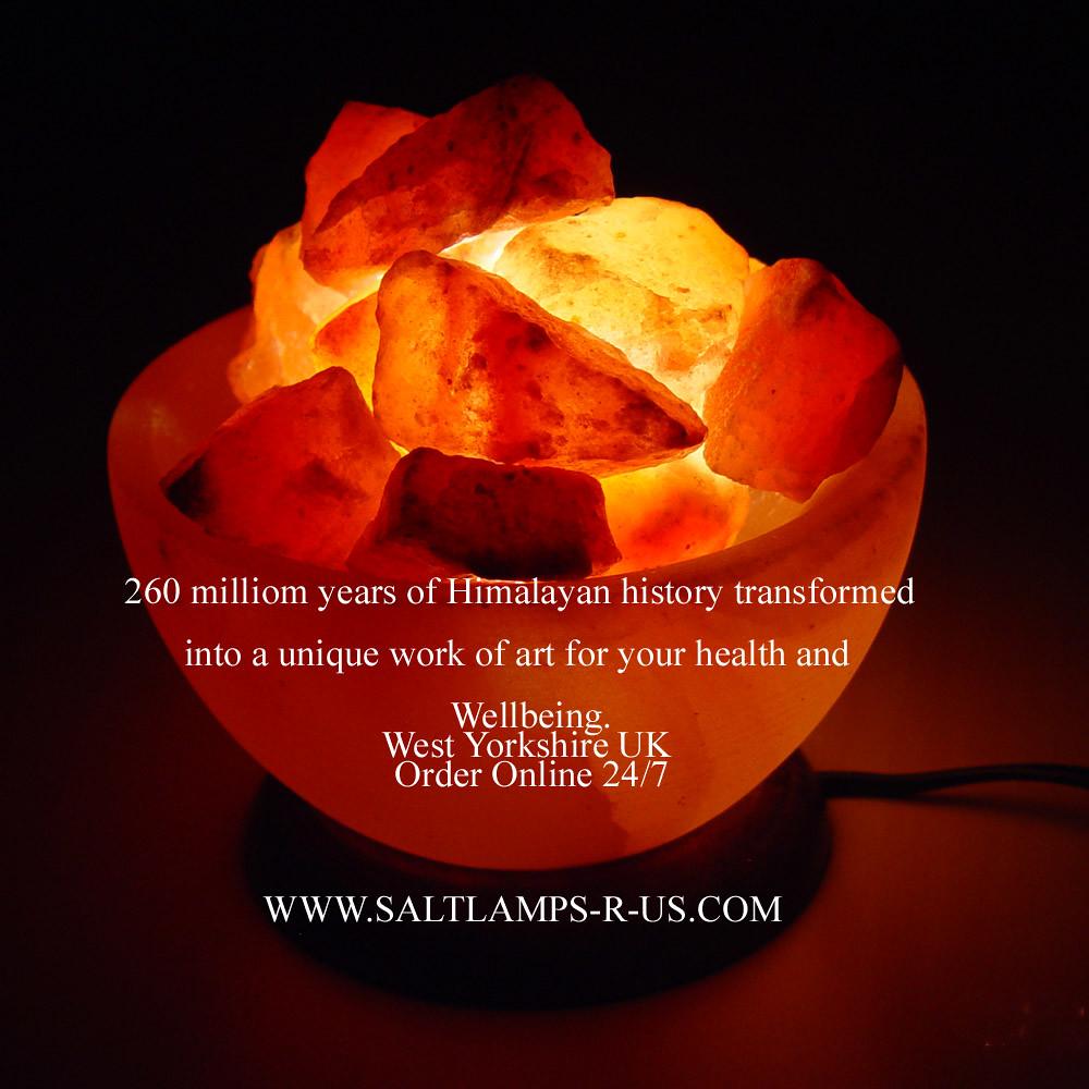 Fire Bowl Salt Crystal Himalayan Lamp Basket Salt Lamps R