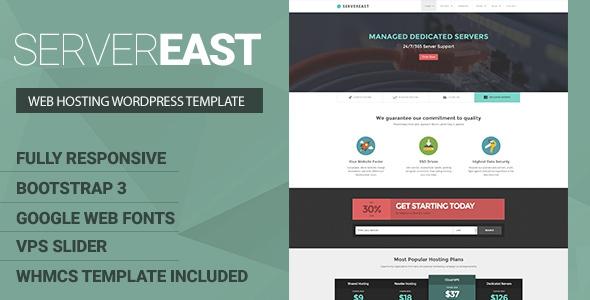 Themeforest ServerEast v1.0 - VPS Hosting Wordpress Theme + WHMCS