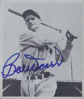 1976 Taylor / Schmierer Bowman 47 - Bobby Doerr #1 (Second Base) (Hall of Fame 1986) - Autographed Baseball Card (Boston Red Sox)