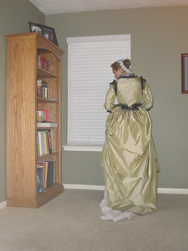 Early 1870s Le Baiser Dress - Back