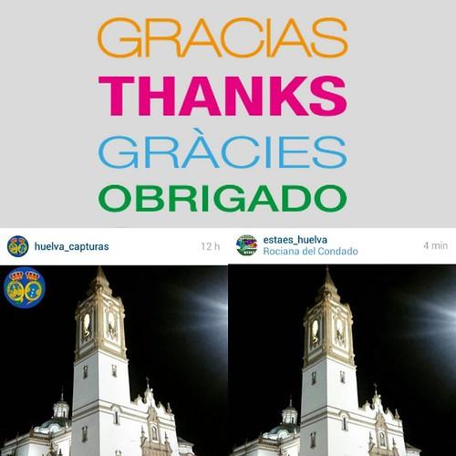 Quiero agradecer a @huelva_capturas y a @estaes_huelva por seleccionar esta fotografía de la Iglesia de Rociana para su galería. GRACIAS