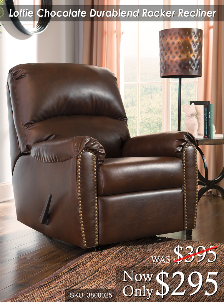 Lottie Chocolate Rocker Recliner