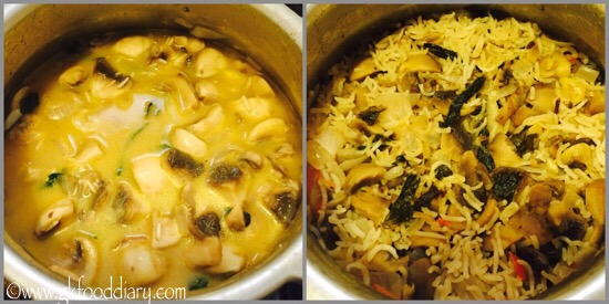 Mushroom Pulao Recipe for Toddlers and Kids - step 6