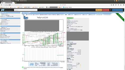 "YaCy_SS_(2016_02_15)_1_Edited_1 分散型インターネット検索エンジンの ""YaCy"" の管理画面のスクリーンショット画像。日本語表示されている。"