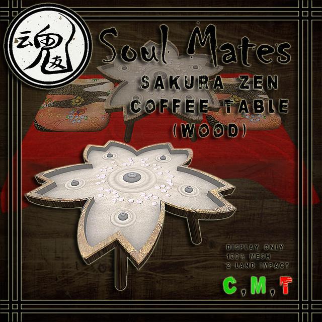 [Soul Mates] Sakura Zen Coffee Table - Wood Ad