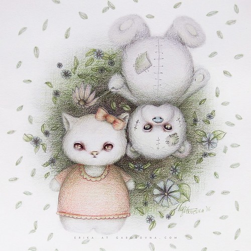 2/100 - Hello Kitty & Tatty Teddy fanart