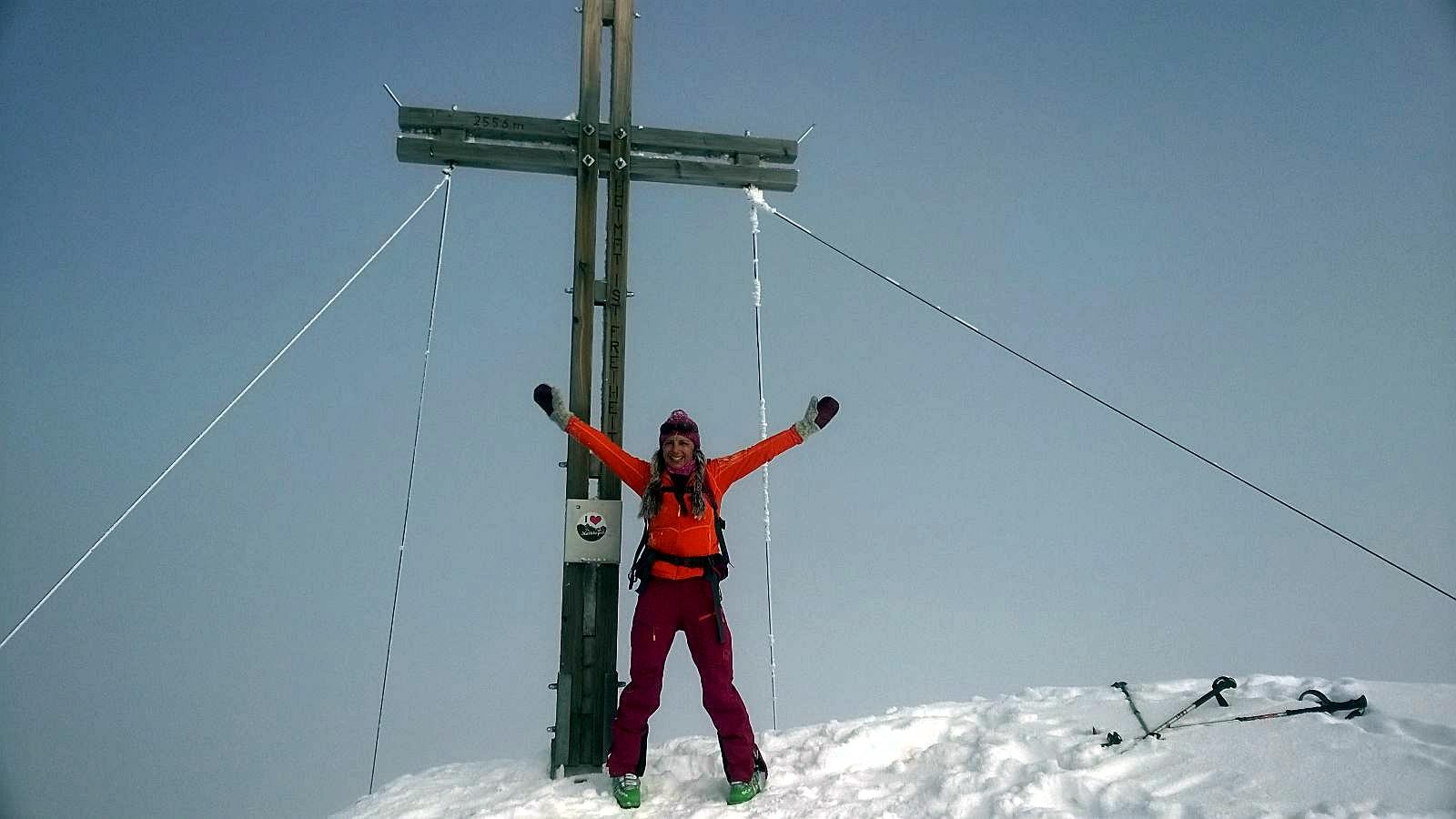 Ampferstein (2.556 m), Stubaier Alpen, 14.3.2016