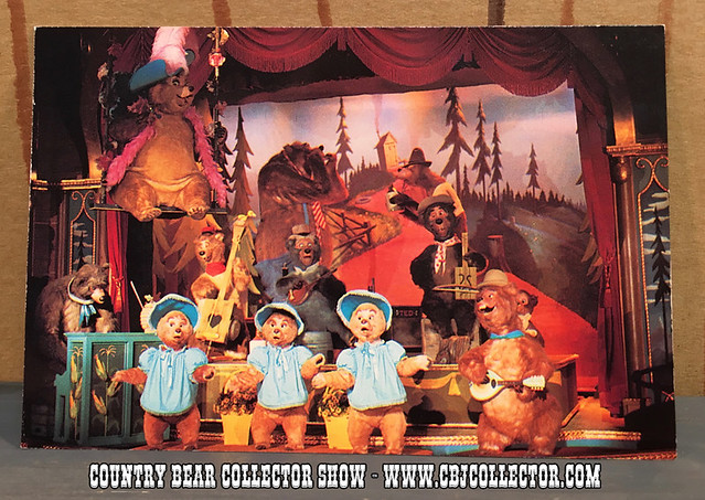 The Vintage Walt Disney World Country Bear Curtain Call Postcard Mystery - Country Bear Jamboree Collector Show #038