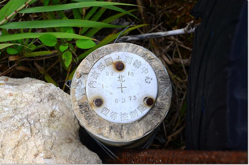 內政部國土測繪中心四等控制點銅標(# GD73)