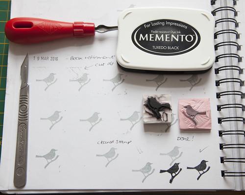 Blacbird Stamp, Old Stamp & New Together