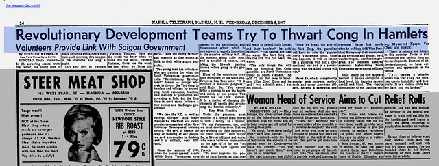 Revolutionary Development Teams Try To Thwart Cong In Hamlets - The Telegraph - Dec 6, 1967