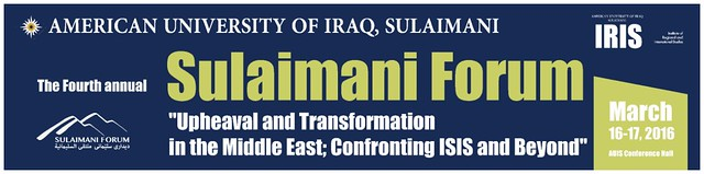 4th Annual Sulaimani Forum 2016