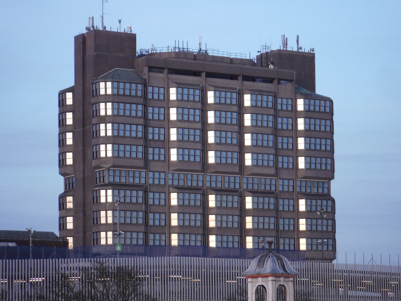 Bucks County Council Building, Aylesbury SWC Walk 193 Haddenham to Aylesbury (via Gibraltar and Ford)