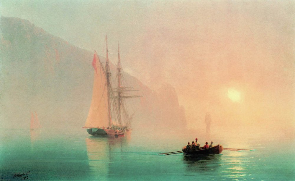 Ayu-Dag on a foggy day by Ivan Aivazovsky, 1853