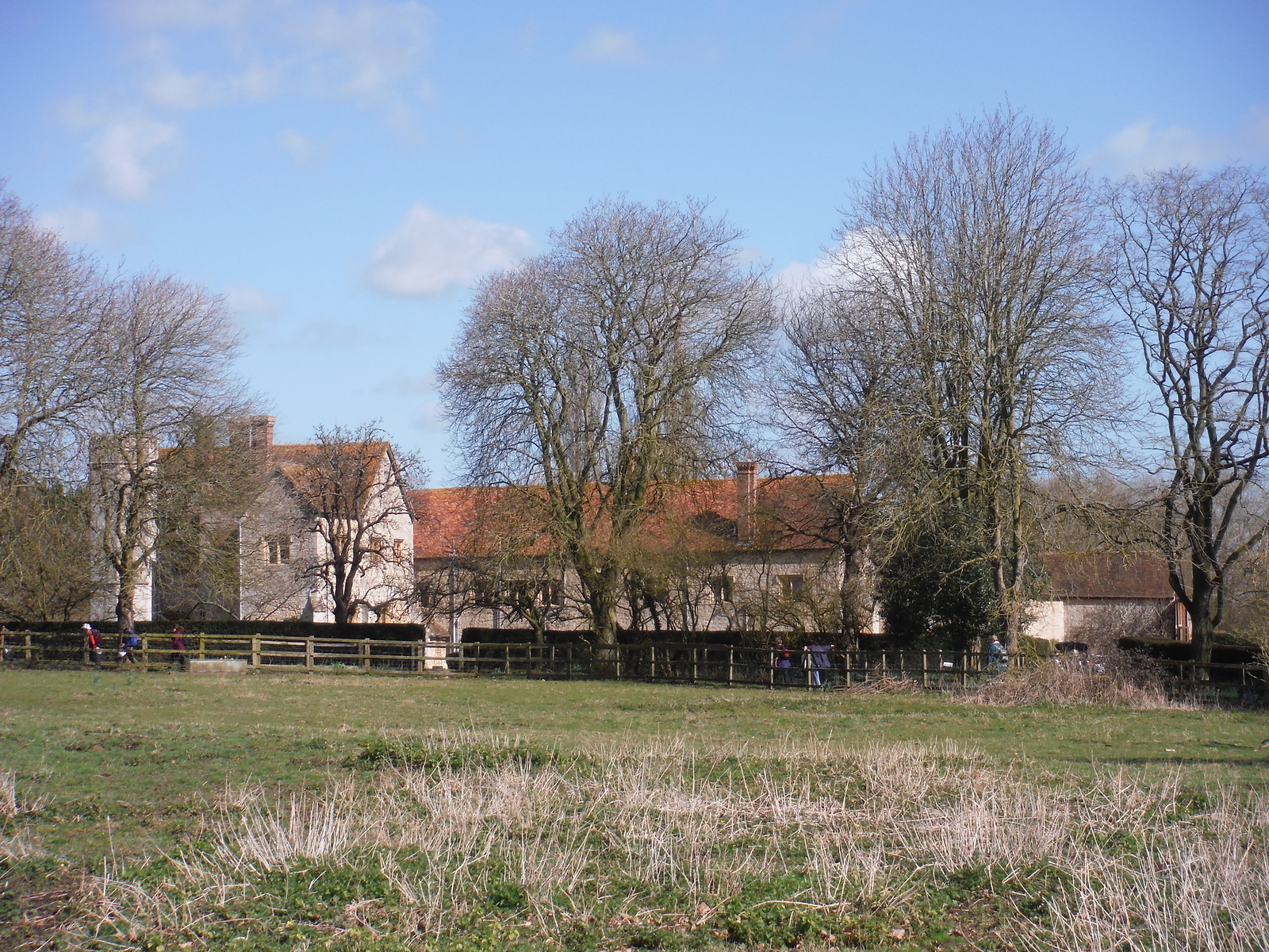 Notley Abbey, from footpath to the SW SWC Walk 193 Haddenham to Aylesbury (via Gibraltar and Ford)