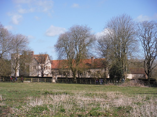 Notley Abbey, from footpath to the SW