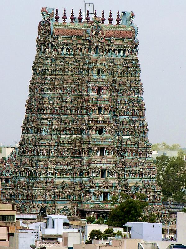 Gopura del Templo de Sri Meenakshi