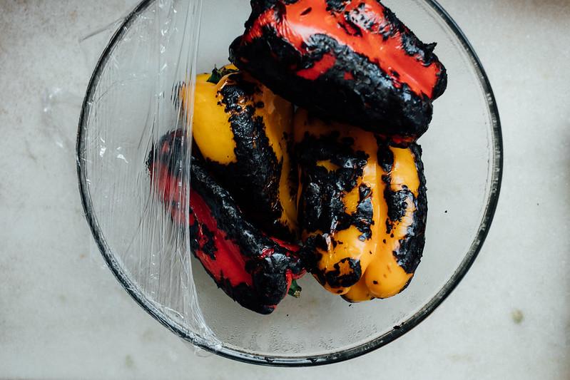 Pincho de Pimentão Assado e Creme de Queijo