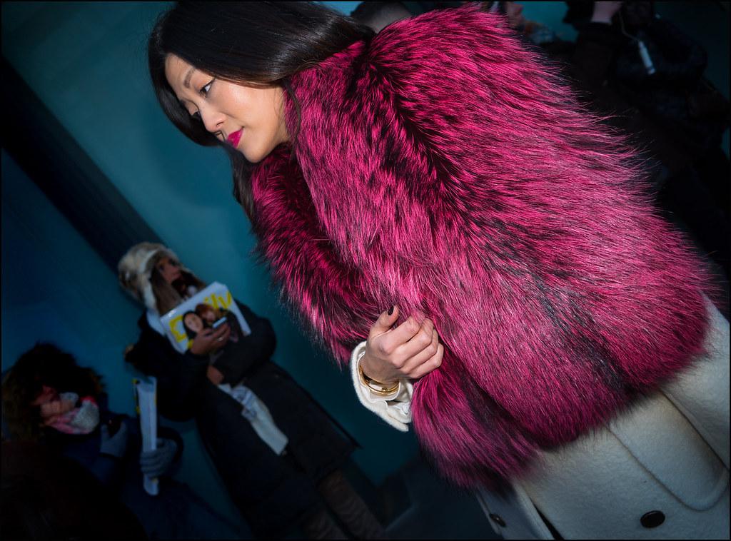 Magenta Fur ...NYFW 2-2016
