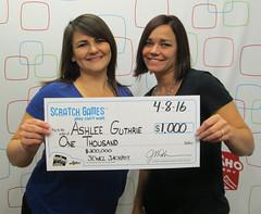 Ashlee Guthrie - $1,000 $200,000 Jewel Jackpot