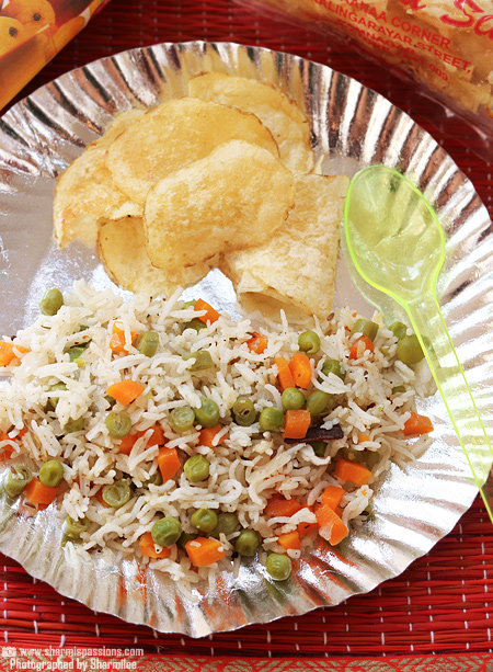 Vegetable Rice and Chips