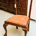 Ex hotel ornate dark wood stained dining chair
