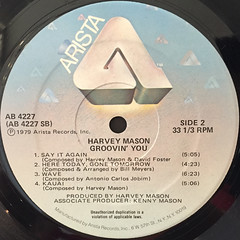 HARVEY MASON:GROOVIN' YOU(LABEL SIDE-B)