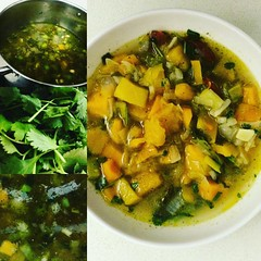 I :heart:️ winter because of #soup #greenmondaysa #vegan #butternut #corrianderleaves
