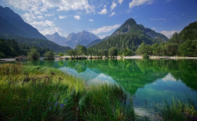 Idilic scenery at lake Jasna