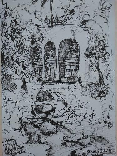 I Made Kartiyoga , Diam Dalam Hening, 30 x 21 cm Ink on Paper