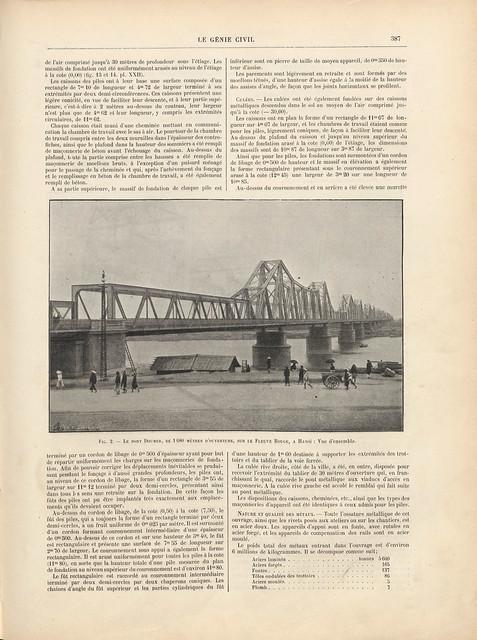LE GÉNIE CIVIL 1909-04-03 (3) - CẦU LONG BIÊN
